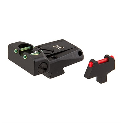 L.P.A. Sights Colt Fiber Optic Adjustable Sight Sets - Colt 80s Fiber Optic Adj Sight Set