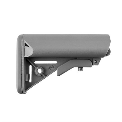 B5 Systems Ar-15 Enhanced Sopmod Stock Collapsible Mil-Spec - Ar-15 Enhanced Sopmod Stock Collapsible Mil-Spec Gray