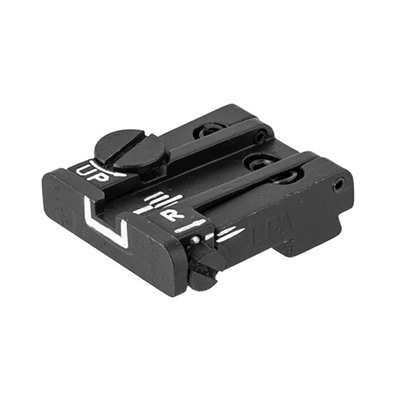 L.P.A. Sights Glock Adjustable Rear Sight - Adjustable White Outline Rear Sight For Glock
