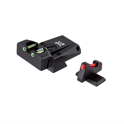 L.P.A. Sights Browning Adjustable Sight Set - Browning Hi-Power Fiber Optic Adjustable Sight Set