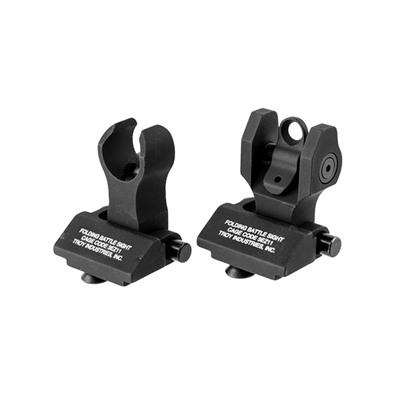 Troy Industries Ar-15  Hk-Style 45 Degree Offset Sight Set - Ar-15  Flip-Up Hk-Style 45 Degree Offset Sight Set Black