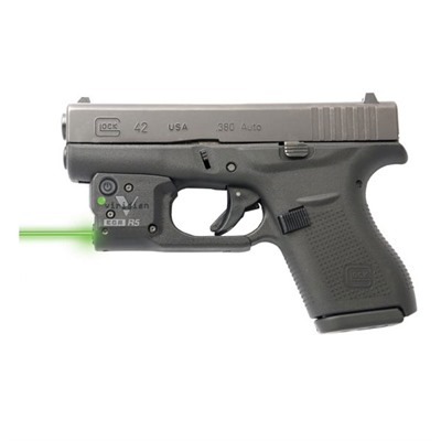Reactor 5 Green Weapon Lasers - Glock® 42 Reactor 5 Green Laser With Hybrid Holster