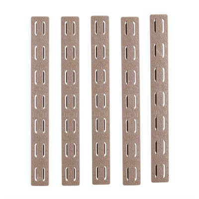 Bravo Company Ar-15 Keymod Rail Panel Kit 5-Pack Rubber - Rail Panel Kit 5-Pack Keymod Rubber Flat Dark Earth 5.5