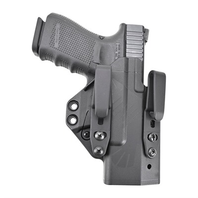 Raven Concealment Systems Eidolon Holster Full Kit For Glock Compact Handguns Soft Loops - Eidolon-Glock 19/26-Black-Right Hand-1.75 Overhook Struts