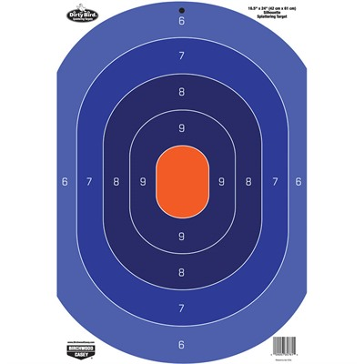 Birchwood Casey Dirty Bird Blue And Orange Targets