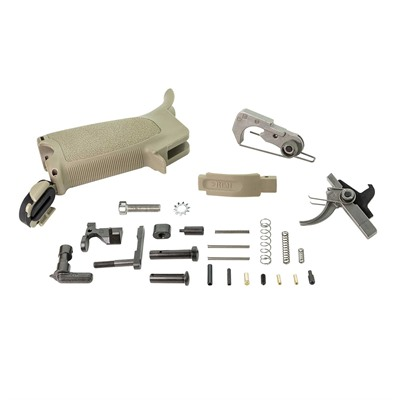 Bravo Company Ar-15 Bcmgunfighter Enhanced Lower Parts Kits - Bcmgunfighter Ar-15 Enhanced Lower Parts Kit, Fde