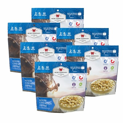 Wise Foods Outdoor Apple Cinnamon Cereal 6 Count Pack