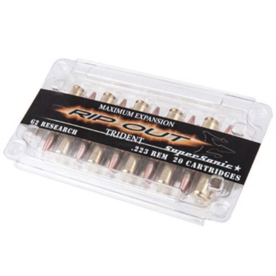 Trident Ammo 223 Remington 65gr Solid Copper Lead-Free Hp - 223 Remington 65gr Solid Copper Lead-Fre