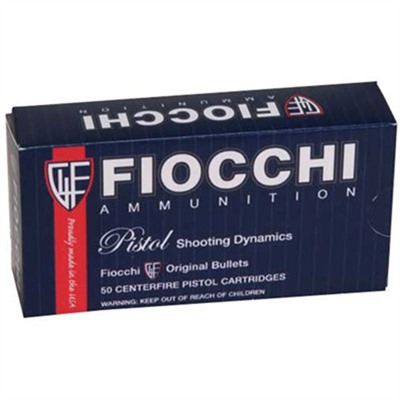 Fiocchi Ammunition Pistol Shooting Dyanmics Ammo 38 Super 129gr Fmj - 38 Super 129gr Full Metal Jacket 50/Box