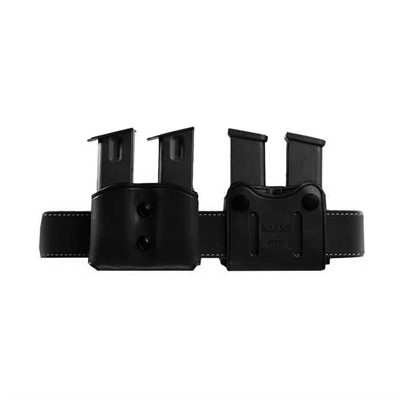 Double Mag Carrier - Double Mag Carrier 9mm Staggered Metal Mag-Black