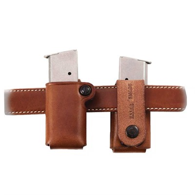 Galco International Single Magazine Carrier Single Mag Carrier .40 Staggered Metal Mag Tan USA & Canada