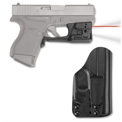 Crimson Trace Corporation Glock 42/43 Laserguard Pro With Blade Tech Iwb Holster Glock 42/43 Red Laserguard Pro + Iwb Holster
