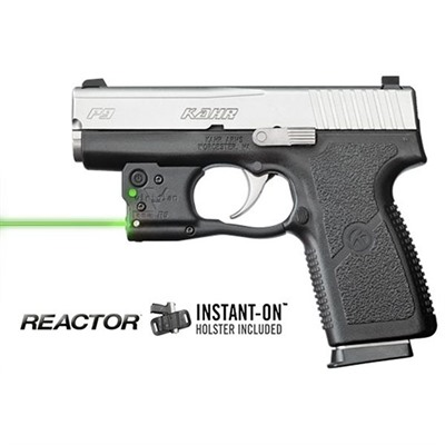 Reactor 5 Green Weapon Lasers - Kahr Pm/Cw 9/40 Reactor 5 Green Laser With Hybrid Holster