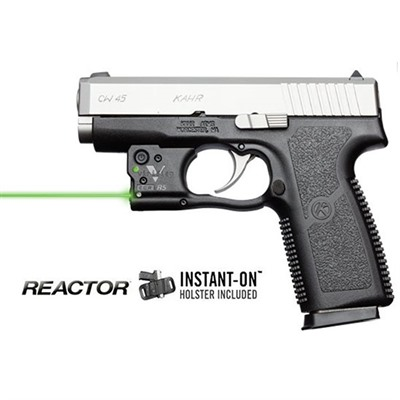 Reactor 5 Green Weapon Lasers - Kahr Pm/Cw 45 Reactor 5 Green Laser With Hybrid Holster