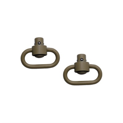 Grovtec Us Push Button Swivels - Push Button Swivels-Flat Dark Earth
