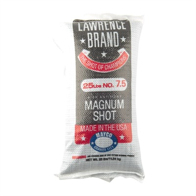 Lawrence Brand Shot - Magnum Lead Shot #7.5 25lb Bag