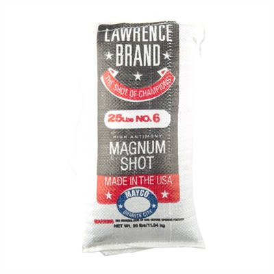 Lawrence Brand Shot - #6 Lead Shot 25 Lb Bag