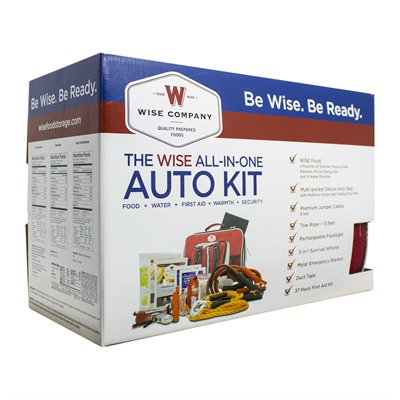 Wise Foods Vehicle Emergency Survival Kit With Jumper Cables