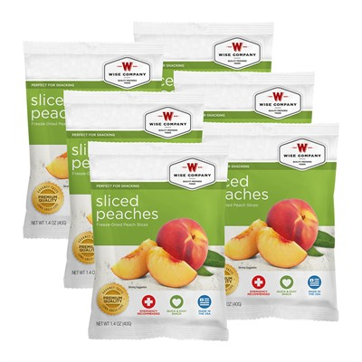 Wise Foods Sliced Peaches 6 Count Pack USA & Canada