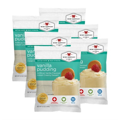 Wise Foods Vanilla Pudding 6 Count Pack USA & Canada