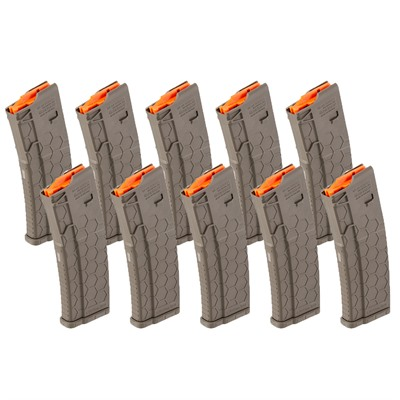 Hexmag Ar-15 30-Round Magazines Flat Dark Earth - Ar-15 Magazine 30rd Fde 10 Pack