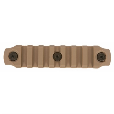 Bravo Company Keymod Picatinny Rail Sections Flat Dark Earth - Keymod Picatinny Nylon Rail Section 4 Inch Fde