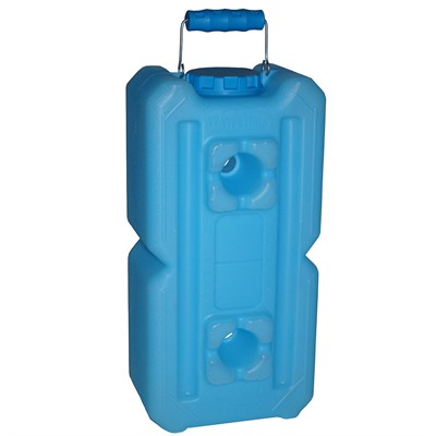 Stackable Water And Food Storage Containers - 3.5 Gallon-Blue-Single