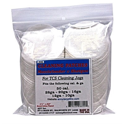 Tcs Cleaning Patches - Tcs Cleaning Patches 50 Caliber Muzzleloader-12 Gauge