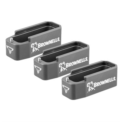 Brownells Taran Tactical Innovations Ar-15 Custom 5.56 Pmag Extension 3-Pks - Ar-15 Brownells 5.56 Pmag Extension Grey 3-Pk