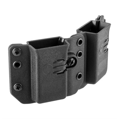 Copia Double Magazine Carrier - Copia Double Pistol Mag Carrier 9/40 Black Short