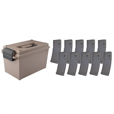 Brownells Ammo Can W/ 10-Pk 30-Rd Pmags