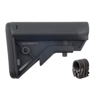 Brownells Ar-15 Sopmod Bravo Stock Collapsible W/ Folding Stock Adapter - Ar-15 Sopmod Bravo Stock Assy Blk W/ Folding Stock Adapter