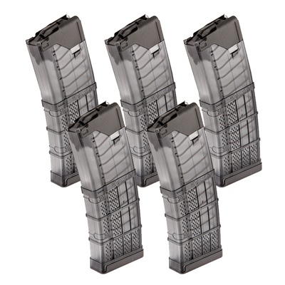 Lancer Systems Ar-15 L5awm Translucent Smoke Magazine 30-Rd - Ar-15 L5awm Magazine 223/5.56 30rd Polymer Smoke Gray 5/Pack