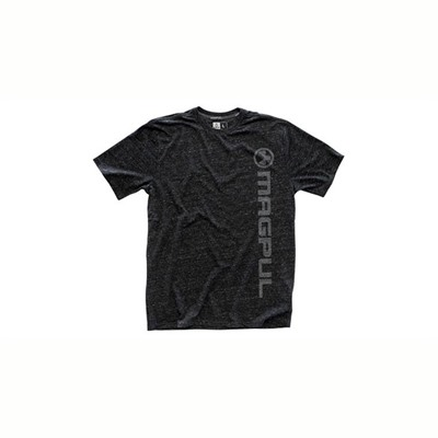 Magpul Megablend Vertical Logo T-Shirts - Megablend Vert Logo T-Shirt Charcoal Heather Large