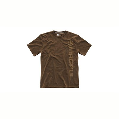 Magpul Men's Superweight Vertical Logo T-Shirts - Superweight Vert Logo T-Shirt Dark Brown Medium