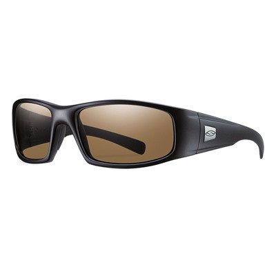 Smith Optics Hideout Elite Protective Glasses - Hideout Elite Glasses Black Frame Brown Polarized Lens