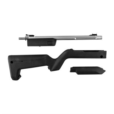 Tactical Solutions 10/22 Takedown Barrels With Backpacker Stocks - Lightweight Silver Barrel W/ Black Backpacker Stock