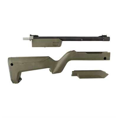 Tactical Solutions 10/22 Takedown Barrels With Backpacker Stocks - Lightweight Matte Black Barrel W/ Green Backpacker Stock