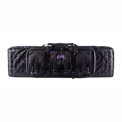 Voo Doo Tactical 42 Padded Weapon Case Black With Purple Stitching