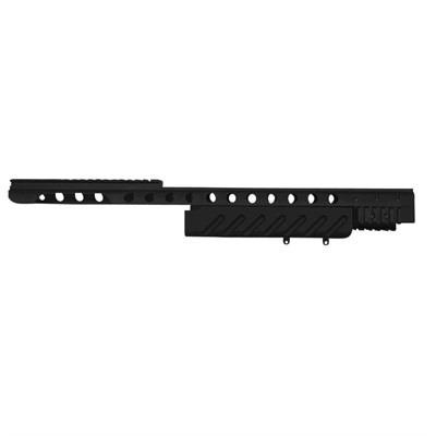 Remington 7600 Forearm W/ Top Picatinny Rail Mount & Accy Rails - Handguard Drop-In Aluminum Black W