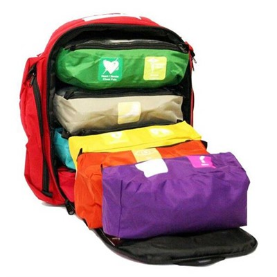 Think Safe Inc First Voice Color Coded First Aid Responder Kit - First Aid Responder Kit With Backpack