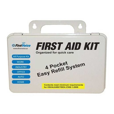 Think Safe Inc First Voice Basic First Aid Kit - Basic 10-Person First Aid Kit
