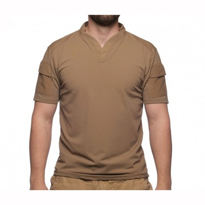 Velocity Systems Boss Rugby Shirt Short Sleeves - Boss Rugby Shirt Short Sleeve Coyote Brown Med