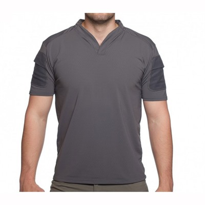 Velocity Systems Boss Rugby Shirt Short Sleeves - Boss Rugby Shirt Short Sleeve Wolf Grey Med