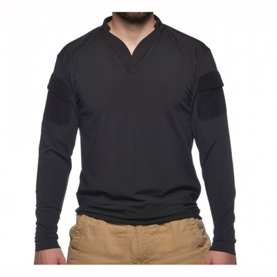 Velocity Systems Boss Rugby Shirt Long Sleeves - Boss Rugby Shirt Long Sleeve Black Xl