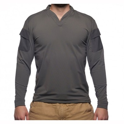 Velocity Systems Boss Rugby Shirt Long Sleeves - Boss Rugby Shirt Long Sleeve Wolf Grey Sm