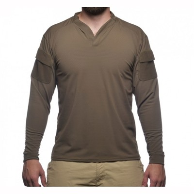 Velocity Systems Boss Rugby Shirt Long Sleeves - Boss Rugby Shirt Long Sleeve Ranger Green Sm