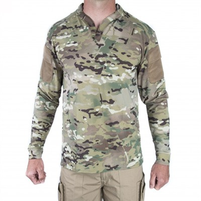 Velocity Systems Boss Rugby Shirt Long Sleeves - Boss Rugby Shirt Long Sleeve Multicam Lg