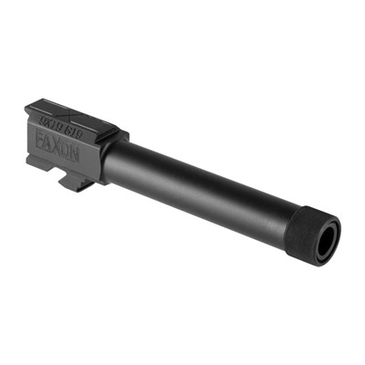 Faxon Firearms Threaded Compact Barrel For Glock19 Gen 1-4 - G19 Gen 1-4 Compact Threaded Barrel Saami 9mm Black