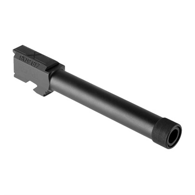Faxon Firearms Threaded Full-Size Barrel For Glock17 Gen 1-4 - G17 Gen 1-4 Full-Size Threaded Barrel Saami 9mm Black